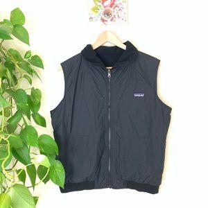 Black Patagonia Reversible Vest